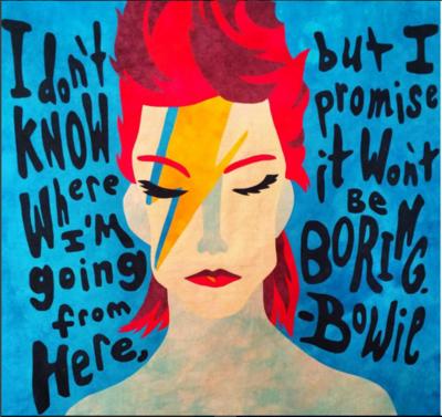 David Bowie quilt