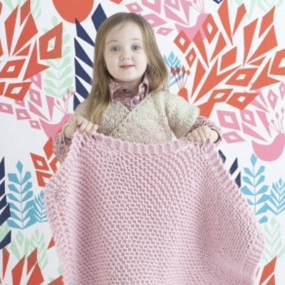 knitted and crocheted baby blankets for beginners