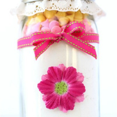 cookie recipe in mason jar gift