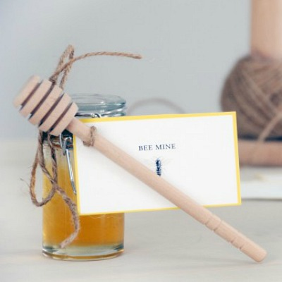 Handmade honey jar gift