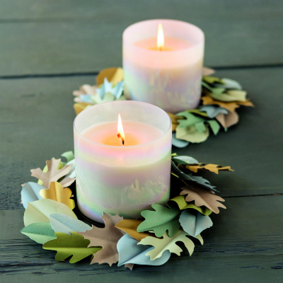 Cutting machine crafts candle leaf garland
