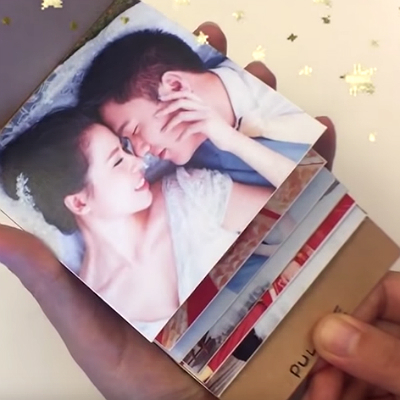 DIY photo flip book