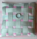 Mint Green Woven Wedding Ring Pillow