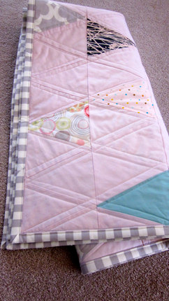Watercolor Triangle Baby Quilt