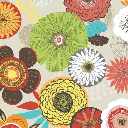 De-stash-- Multi-color Floral Quilting Cotton
