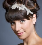 Lucia Stretch Silk Headband with Rhinestone Applique