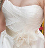 Zerbinetta Silk Sash with Silk, Tulle, and Organza Flowers