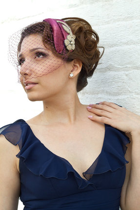 Elisabetta - refashioned vintage hairpiece