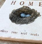 Robin's Egg Nest Tile Trivet