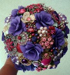 Custom Order - Brooch Wedding Bouquet - Paper Flower Wedding Bouquet, Rehearsal Bouquet, Toss Bouquet, Etc.