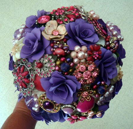 Custom order brooch wedding bouquet paper flower wedding bouquet custom order brooch wedding bouquet paper flower wedding bouquet rehearsal bouquet toss bouquet etc mightylinksfo