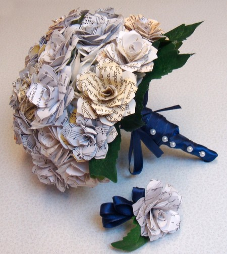 Custom order brooch wedding bouquet paper flower wedding bouquet other images mightylinksfo