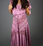 Vintage 1970s Pink Floral Dress
