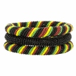 Set of Three Multicolored Maasai Bangles