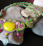 """Summer"" Soutache Handmade Italian Necklace"