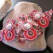 """Red Reflex"" Soutache Cuff Bracelet (Handmade in Italy)"