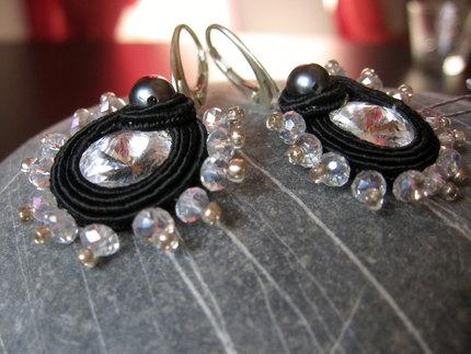 """Elegant"" Handmade Italian Soutache Earrings"