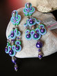 "Handmade Italian ""Thousand Pearl"" Soutache Earrings"