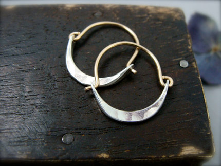 Mini Minimalist 14k Gold Filled Hoops