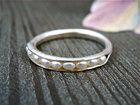 Petite Pearl Stack Ring  - Handmade to order in your size
