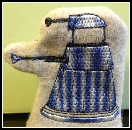 Doctor Who (Dr. Who)  Inspired Dalek Finger Puppet