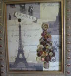 Chic Paris Button Christmas Tree Art