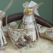 Handmade Vintage Sheet Music Tassels - Christmas Ornaments