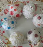 Shabby Snowball Button Christmas Ornaments