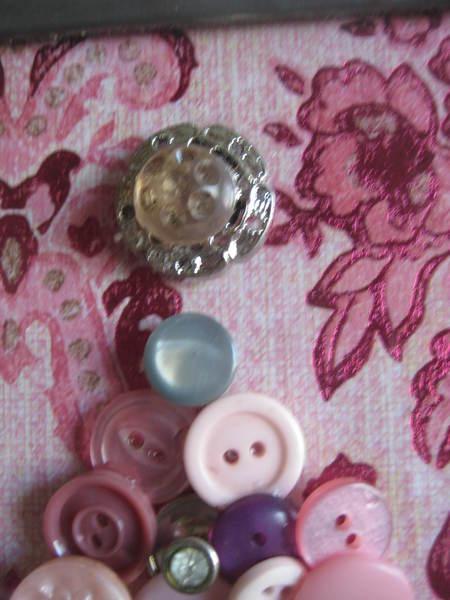 Shabby Pink Button Art Christmas Tree Bunnyspurpose S