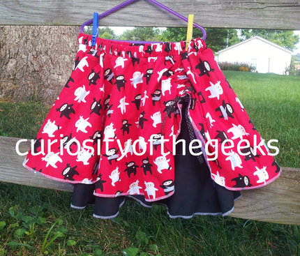 Cute Ninja Skirt for Girls