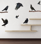 Realistic Ravens Vinyl Wall Decals