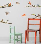 Spring Song Birds Vinyl Wall Decals
