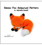 Sleepy Fox Amigurumi - PDF Crochet Pattern