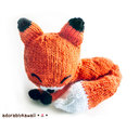 Knit Sleepy Fox Amigurumi - PDF Knitting Pattern