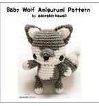 Baby Wolf Amigurumi - PDF Crochet Pattern