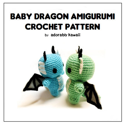 Baby Dragon Amigurumi - PDF Crochet Pattern