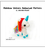 Rainbow Unicorn Amigurumi - PDF Crochet Pattern
