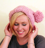 Knit Bridget Jones Double Pom Pom Adult Hat - Blossom Pink