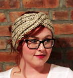 Chunky Knit Turban Headband Earwarmer - Oatmeal