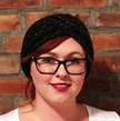 Chunky Knit Turban Headband Earwarmer - Charcoal Sparkle