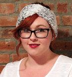 Chunky Knit Turban Headband Earwarmer - Grey Tweed