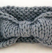Turban Knot Bow Headband Earwarmer - Light Grey