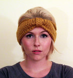 Turban Knot Bow Headband Earwarmer - Mustard Yellow