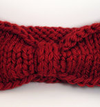 Turban Knot Bow Headband Earwarmer - Deep Red