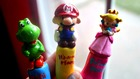 Super Mario, Yoshi, and Princess Peach Polymer Crochet Hook Handle Set