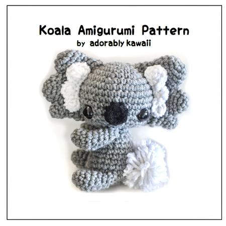 Amigurumi Koala Pattern : Koala Amigurumi - PDF Crochet Pattern - Adorably Kawaii ...