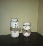 Hand Decorated Mason Jar Candles / Decor