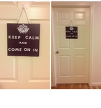 Welcome 'Keep Calm' Door Sign