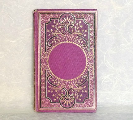 Custom Wedding Guest Book - Upcycled Vintage Book with Personalized Brass Plaque