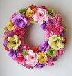 Custom Paper Flower Wreath 13 Inches - Made to Order